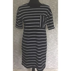 Banana Republic Navy And White Stripe Dress